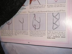 closed feather stitch in the book