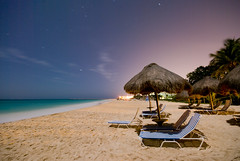 The beach at night (canbalci) Tags: beach mexico riviera playadelcarmen mayan caribbean palapas sahil meksika