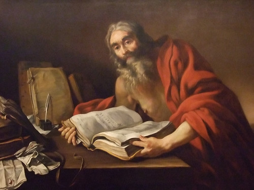 Saint Jerome in His Study attributed to Claude Vignon French 1620-1630 CE oil on canvas