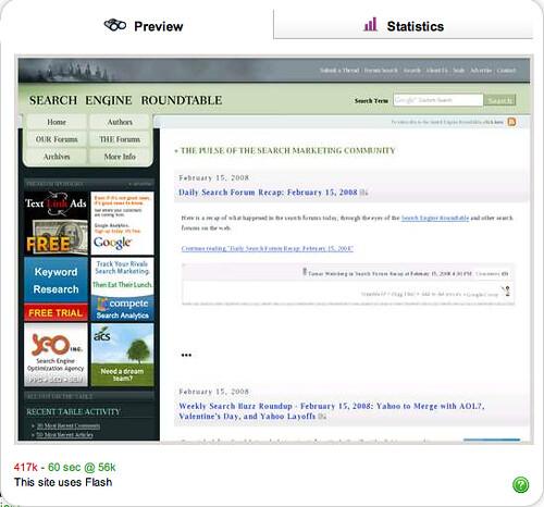 Ask.com Binoculars Gets Stats