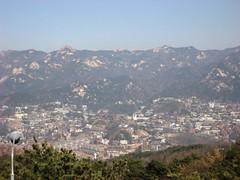 Seoul against Bugaksan Range