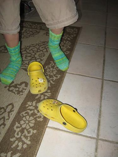 Jet's lime socks