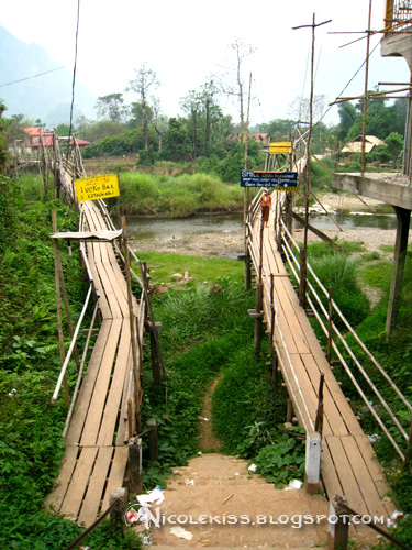 bridge to bars in island