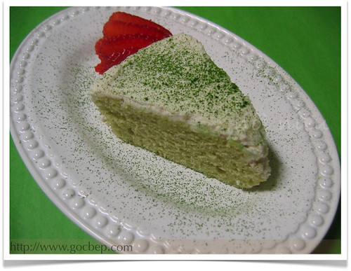 Japanese Green Tea Chiffon Cake