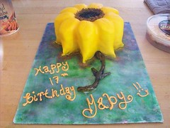 Sunflower cake (TabbyCake) Tags: birthday cakes gaby tabby yellowflower sunflower