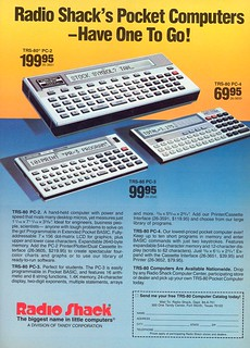 RADIO SHACK'S POCKET COMPUTERS - HAVE ONE TO GO
