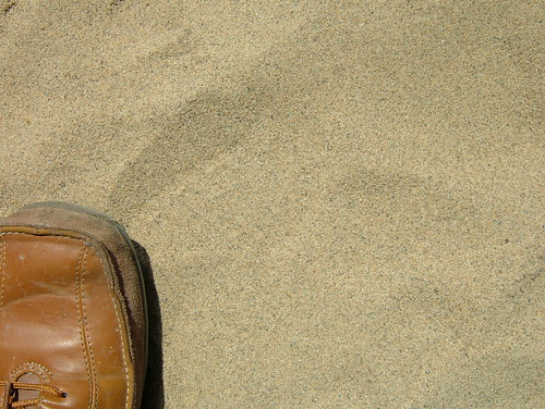 sand and my shoe