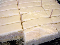 Rhubarb-Ginger Opera Cake