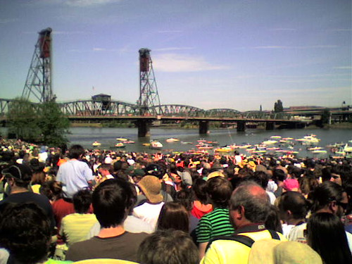 Obama rally in Portland