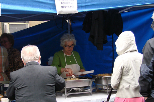 Serving up some good eats at the St. George's Tent