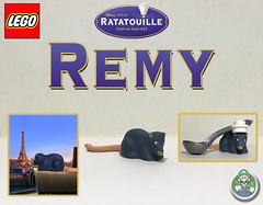 Custom Lego Remy (from Ratatouille) (Luigi Fan) Tags: ratatouille disney pixar lego custom remy