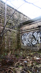 Former street level entrance to Heeley Station   January 2017 (dave_attrill) Tags: railway station sheffield lms midland main line disused suburban closed 1968 island platform remains london rd chesterfield road street entrance bricked up overgrown january 2017