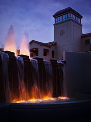6:59 (Josh Liba) Tags: sunset water beautiful night jw lights evening pretty center clocktower patterson educational fountains bethel watchtower explored joshliba