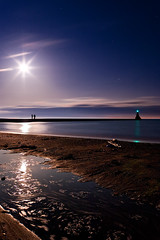 K20D0367 (Bob West) Tags: longexposure nightphotography moon lighthouse ontario beach night lakeerie greatlakes fullmoon moonlight nightshots startrails erieau southwestontario bobwest k20d pentax1224 pwpartlycloudy