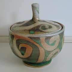 Brad Henry Pottery sugar bowl
