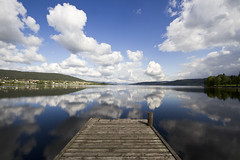 133.norway won me over today (mintyfreshflavor) Tags: lake reflection glass norway clouds explore hadeland glasverks
