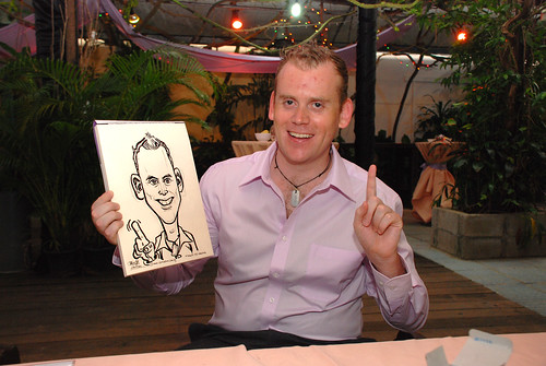 Caricature live sketching for Mark and Ivy's wedding solemization - 10