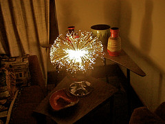 Vintage Fiber Optic Lamp