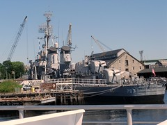 P6210553 WWII ship in Naval Yard at Charlestown in Boston Harbor