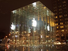 Apple Store (Arciteka) Tags: nyc apple glass architecture night manhattan applestore modernarchitecture bohlincywinskijackson aia150