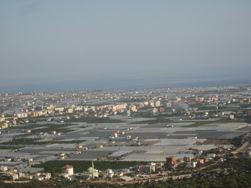 greenhouses landscape southwest Turkey