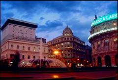 Evening in Genova (Fab Thorn (che insegue la luce)) Tags: city light sky people genova sera colourartaward scenicsnotjustlandscapes