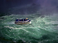 Maid of the Mist (Four Symbols) Tags: blue people white mist green water niagarafalls boat waterfall bravo waves purple steam rapids rough wavy maidofthemist roughwater betterthangood hp0990