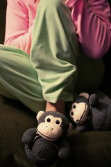 Day 216/365 (martianmermaid) Tags: me cozy narcissism explore canonef35mmf2 jammies day216 wideanglelens 365days monkeyslippers softx inmemoryofirvingthespidermonkey