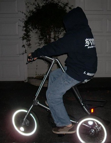 Strida 5.0 at night
