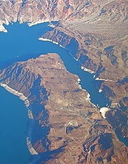 Lake Meade (catface3) Tags: blue brown water architecture lasvegas aerialview reservoir lakemeade catface3