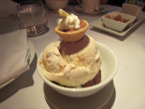 "Pecan Pie ""dressed up scoop,"" Quality Meats"