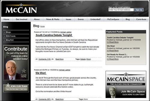 John McCain's Blog - Announcing the South Carolina debate