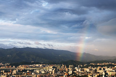 Rainbow & Magnificent Cloud (*Yueh-Hua 2016) Tags: camera cloud building skyscraper canon buildings eos rainbow fine taiwan  taipei dslr   tamron      magnificent 30d  a16      canoneos30d horizontalphotograph tamronspaf1750mmf28xrdiii  tigerpeak   2008january