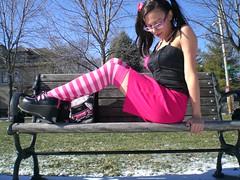 happy bright sunlight day off (Lorena Cupcake) Tags: urban feet fashion socks clothing shoes dress girly style skirt heels kicks accessories shoegazer fashionvictim kneehighsocks streetstyle lowerhalf brandwhore otks