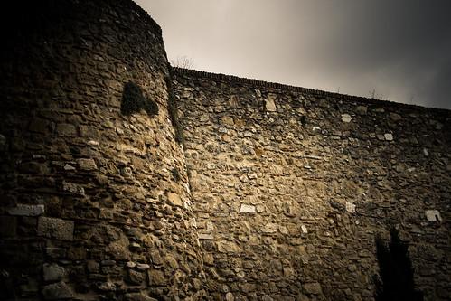 The battlements at Dros Corteswain*