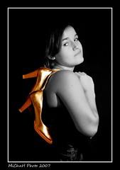 After the party (2) (MiChaH) Tags: party portrait bw girl golden blackwhite shoes amy zwartwit portret schoenen meisje goud zww fter