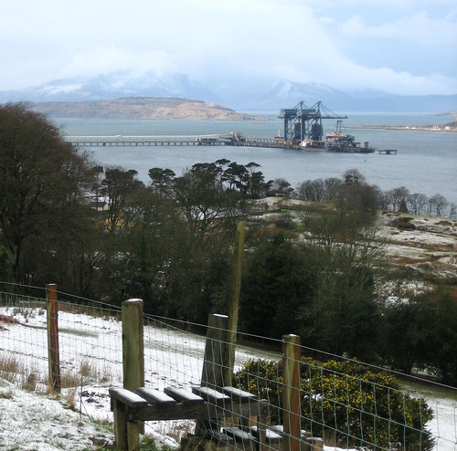 Arran view from snowy Kelburn