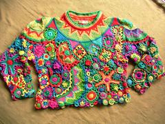 sweater knitting crocheting