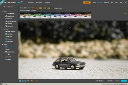Adobe Photoshop Express beta Screenshot