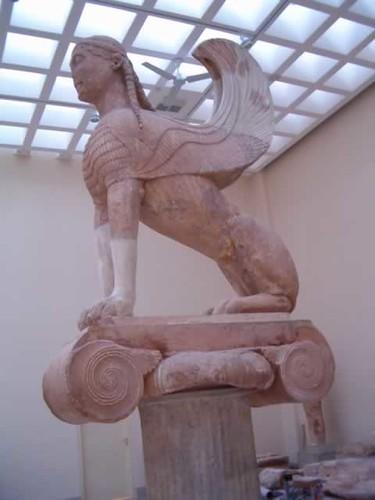 Esfinge de Naxos, Museo de Delfos, Grecia