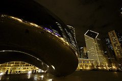 More evening bean... (iceman9294) Tags: travel chicago reflection illinois nikon bravo stainlesssteel bean millenniumpark cloudgate thebean anishkapoor legume lightroom chriscoleman d300 platinumphoto infinestyle iceman9294