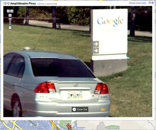 Señal de la sede de Google: empleado de Goog consciente del medio ambiente
