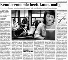 Kenniseconomie heeft kunst nodig(?)