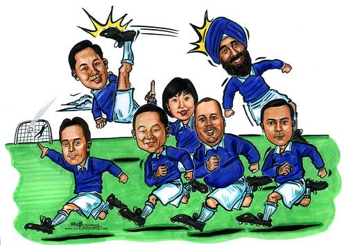 caricatures Microsoft Regional HQ A4