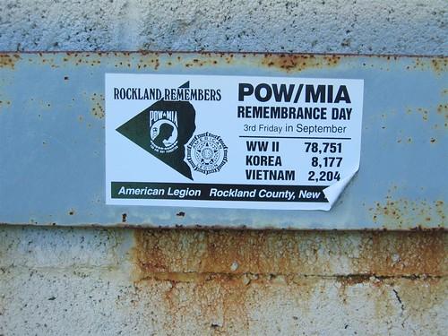 Rockland Remembers POW/MIA sticker