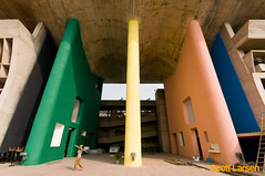 Le Corbusier's High Court Building in Chandigarh (ScottLarsen) Tags: travel urban india architecture court concrete gris one high cement best architect planning sector colored punjab lecorbusier administration stucco supreme corbusier chandigarh modernist select highcourt ciam haryana chandi brightly citybeautiful jeanneret unionterritory charlesdouard ploychrome charlesdouard