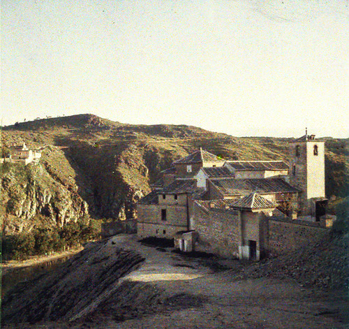 Iglesia de San Lucas (Toledo). Autocromo tomado hacia 1913