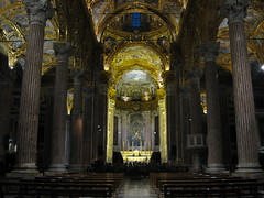 Church - Genoa (Hussam Yaish) Tags: church gold genoa baroque