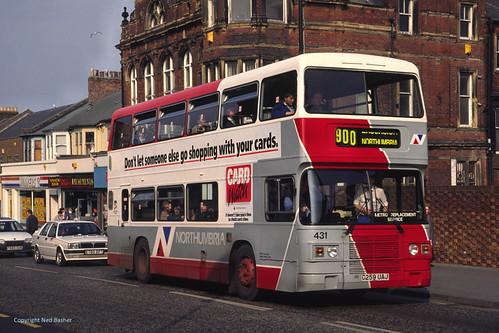 Northumbria Motor Services Leyland Olympian / ECW 431 (C259UAJ)