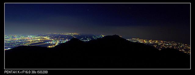 大屯山 小小的夜景